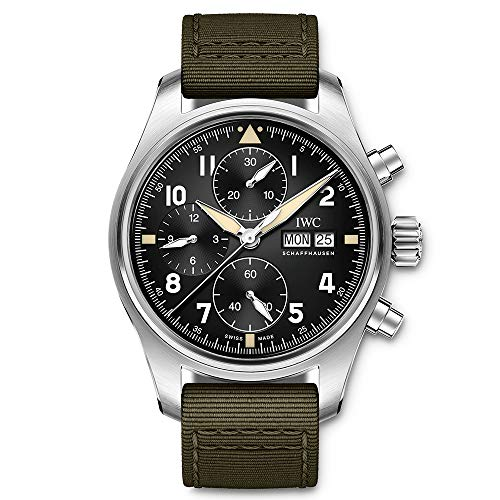 IWC Pilot Spitfire Chronograph Automatic Black Dial Watch IW387901