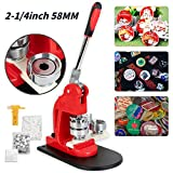Button Maker 58MM 2.25Inch Button Badge Maker Pins Punch Press Machine DIY with Free 500 PCS Button Parts and Circle Cutter