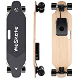 WeSkate Electric Longboard Wireless Remote Control Complete Skateboard Cruiser for Cruising, Carving, Free-Style and Downhill, 8 Layers Maple Skateboard for Adults and Youths