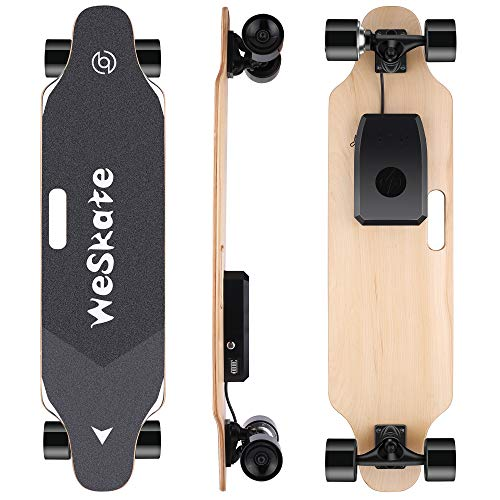 WeSkate Electric Longboard Wireless Remote Control Complete Skateboard Cruiser for