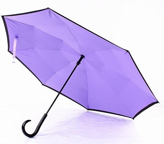 J-Type PoignéE De Parapluie Creative Double Parapluie 8 Parapluies D'Os Parapluie D'Affaires De Mode D'Hommes Et De Femmes