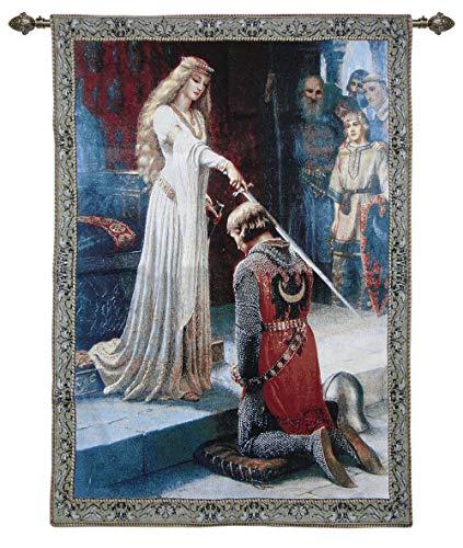 Signare Ignare Arazzo Arte da Parete Decorazione Ispirata da/Edmund Blair Leighton (The Accolade)