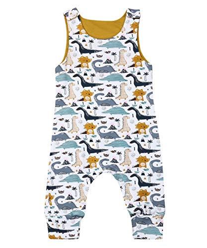 Fiomva Infant Newborn Baby Boy Girl Clothes Cotton Bodysuit Romper Jumpsuit Sunsuit Outfits Clothing (12-18 Months, Dinosaur Romper Pants Overalls)
