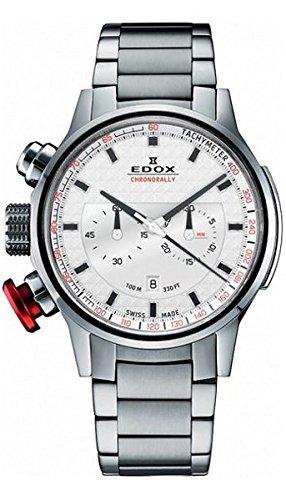 Edox Men's Chronorally 45mm Steel Bracelet Swiss Quartz Watch 10302 3M AIN