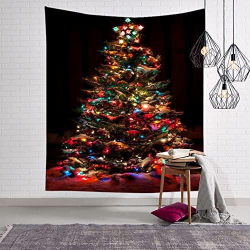XCUGK Tapiz De Navidad Árbol De Navidad Tapiz de Pared Colgante de Pared para La Cama Sala De Estar Decoración del Dormitorio