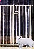 BSQT Hundebarriere Haustier mit Katzentür 48 Zoll breit | Metall Babytor |Keine Bohrungen, Keine...