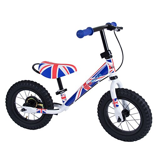 Kiddimoto 2sjm005 - Super Junior Max metalen loopwiel met trommelrem Union Jack