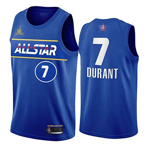 YDYL-LI 2021 Nueva camiseta de baloncesto All-Star Uniforme Chalecos # 7 Kevin Durant Camisetas de entrenamiento para hombre adolescentes, transpirable y cómodo, M