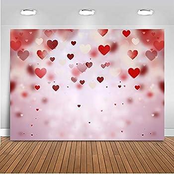 Mocsicka Valentine s Day Backdrop Red Heart Decoration Photography Backdrops 7x5ft Vinyl Backdrop Photo Backgrounds for Galentine s Day Photo Props Video Photography Backdrops Props