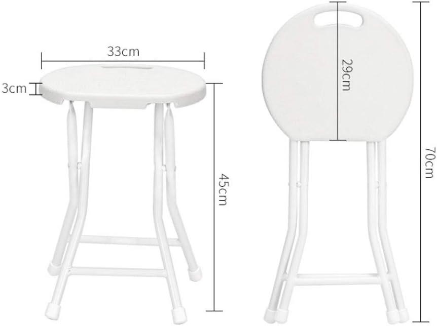 Pliable et Chaises Petit dossier de banc de ménage portable de tabouret se pliant en plastique en dehors du tabouret rond d'épaississement Chaises de salon pliantes (Color : Al) D