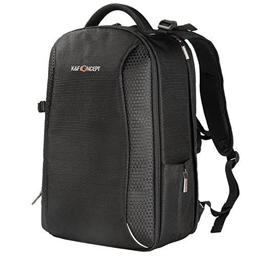 K&F Concept Kamerarucksack Fotorucksack für Canon Nikon Sony SLR-Kamera und 14 Zoll Laptop aus wasserabweisendem Nylon(inkl. 5 in 1 Reinigungsset)