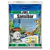 *JBL Sansibar White 67055, Bodengrund Weiß für Süßwasser-Aquarien, 5 kg