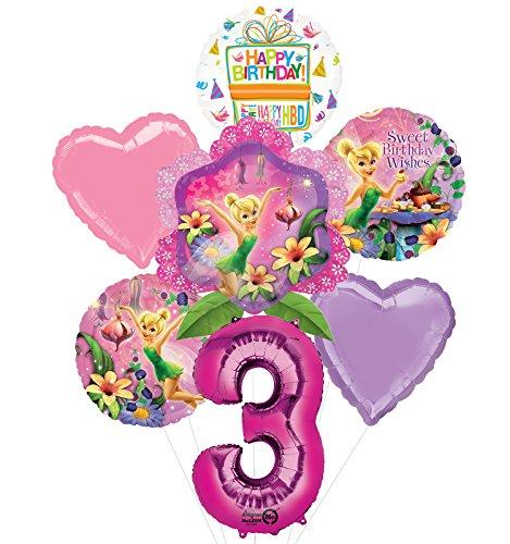 Campanilla 3er cumpleaños Suministros de fiesta y globos ramo decoraciones