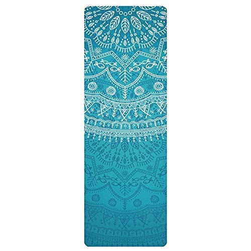 -Ji Yoga Opvouwbare Machine Wash Light Portable Yoga Mat Sweat-absorberend Anti-slip Verbrede Suede Natuurrubberraad Gedrukte Yoga Mat Towel yoga luhua