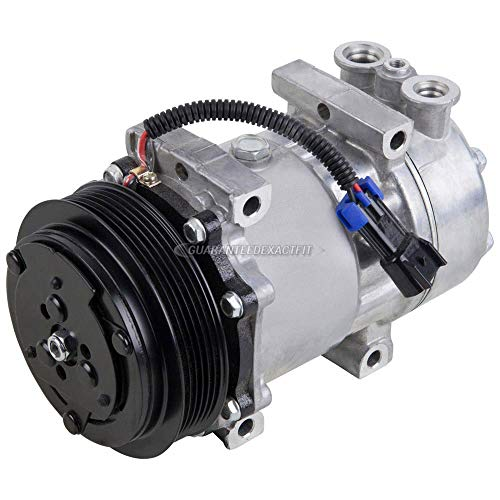 AC Compressor & A/C Clutch For Peterbilt Replaces LF0122 F69-003-122 Sanden SD7H15 4424 4731 4039 - BuyAutoParts 60-02143NA NEW