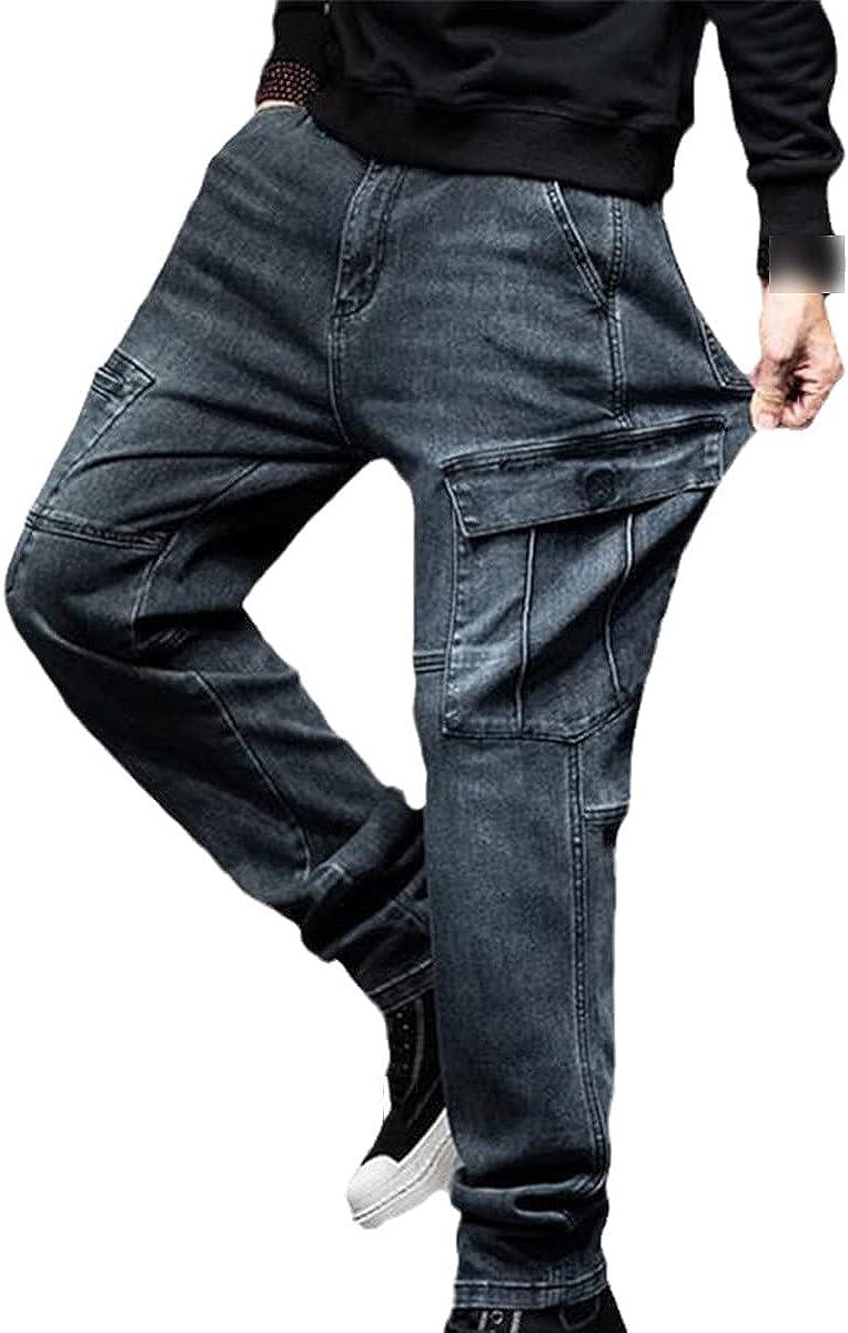 CACLSL Loose Plus Size Men's Jeans Men's Hip-hop Loose Jeans Casual Clothes Fat Trousers