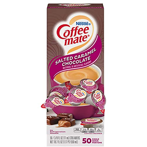 Coffee-Mate Liquid Coffee Creamer, Salted Caramel Chocolate, 0.375 oz Mini...