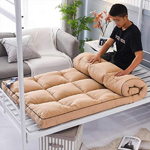 DTNSSTB Futon Mattress,Japanese Floor Mattress Pad Thicken Tatami Mat Sleeping Foldable Roll Up Mattress Mat Breathable Durable Mattress,150 * 200cm