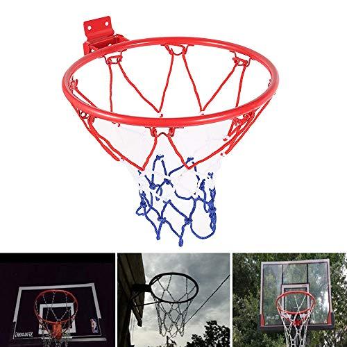 willkey Basketballkorb Outdoor mit Ring und Netz für Erwachsene und Kinder,Durchmesser 32cm