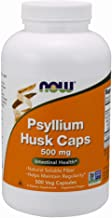 NOW Supplements, Psyllium Husk 500 mg, 500 Capsules