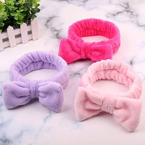 ANBING Frauen Make-up Coral Fleece Stirnband Waschgesicht Weicher Haarhalter Elastischer Haarknoten Haarbänder Mädchen Kopfbedeckung Haarschmuck