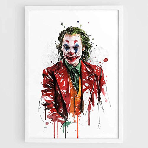Joker 2019 Movie Watercolor Poster