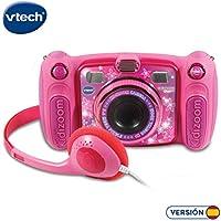 VTech Kidizoom Duo 5.0 - Cámara de fotos digital, infantil con 5 megapíxeles, pantalla a color, juguete para aprender en casa, 10 funciones diferentes, 2 objetivos, Rosa