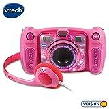 Vtech–Kidizoom Duo 5.0, appareil photo numérique, enfant avec 5mégapixels, écran couleur, 10fonctions différentes, 2objectifs (3480–507157) rose