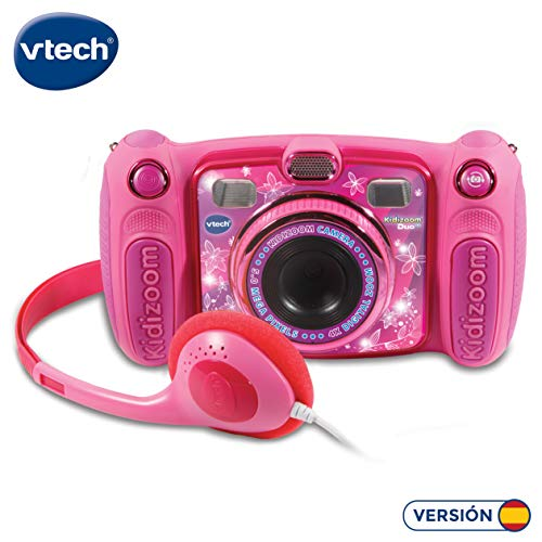 Vtech Kidizoom Duo 5.0 Digitale Kamera für Kinder, 5 MP, Farbdisplay, 2 Objektive, Pink Spanische Version...