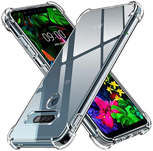 ivoler Klar Silikon Hülle für LG G8S ThinQ mit Stoßfest Schutzecken, Ultra Dünne Weiche Transparent Schutzhülle Flexible TPU Durchsichtige Handyhülle Kratzfest Hülle Cover