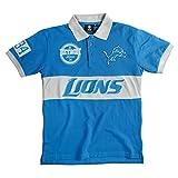 Detroit Lions Cotton/Poly Wordmark Rugby Short Sleeve Polo Shirt Medium -