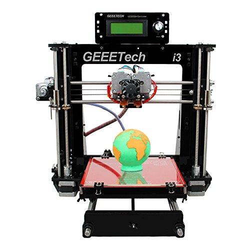 Geeetech I3 Pro C, Stampante 3D doppio estrusore, doppia testina, reprap Pursa I3 3d, stampa bicolore, alta risoluzione