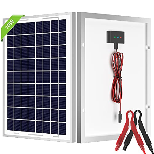 SOLPERK 10W Solar Panel With Built-in Charge Controller.