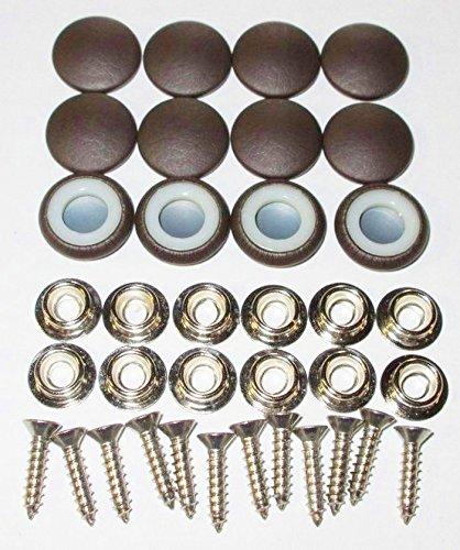 Set Of 12 Dura Snap Upholstery Buttons #30 Dark Chocolate Vinyl