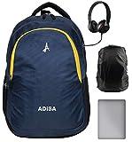 ADISA BP029 Blue Laptop Backpack 31 litres with rain Cover - School Bag