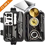 Survival Kit 11 in 1 - Gift for Men Father Husband Dad Mom Boy Boyfriend, Present for Birthday Valentines Day Graduation Christmas | SOS Emergency Tool - Outdoor Gear for Car Hiking Camping Climbing