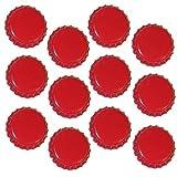 Chapas taladrados Diámetro 26mm con junta para estándar botellas de plástico., rojo, 1000 Stück Kronkorken