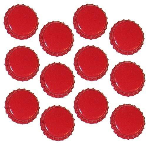 Dekohelden24 500 Kronkorken rot - neu - ungestanzt - zum Bier selber brauen und zum verschließen jeglicher Standartflaschen und Mehrwegflaschen