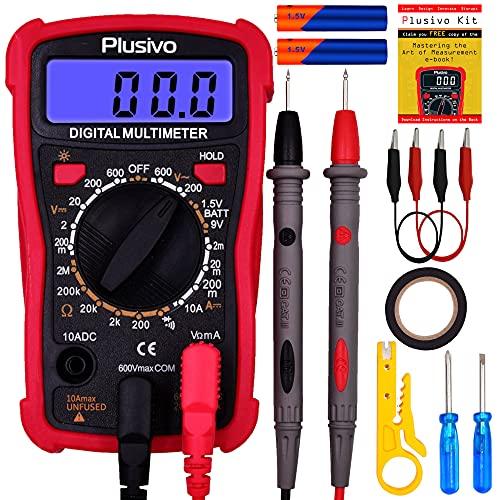프리미엄 프로브 백라이트 케이스 스탠드를 이용한 전압 저항 전류 연속성 배터리 및 다이오드 멀티 테스터 측정용 디지털 멀티미터