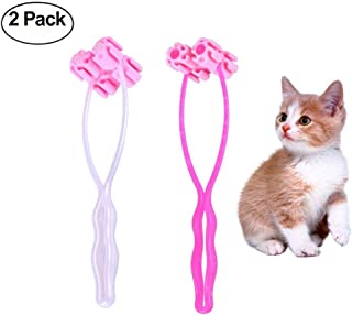 kathson 2 Piece Cat Massage Roller Face Massager for Kitty Pet Toy, Puppy Dog Cat Thin Face Massager Feet Legs Relief Tool Grooming Exquisite Tool