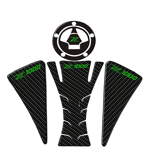 LLKLKL Motorrad Tankpad Lackschutz Aufkleber Kompatibel mit K-awasaki Z1000 2012-2015,Grün