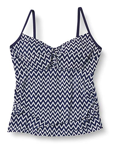 Christina Women's Cami D-Cup Twist Front Tankini Swimsuit, Calabria Chevron, 12