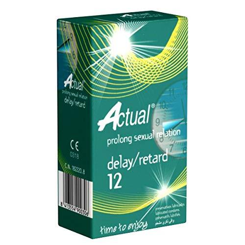 Actual Delay/Retard - 12 condones, ritardantes, con lidocaina
