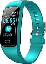 FEDULK Smart Watch Sports Fitness Waterproof Heart Rate Tracker Blood Pressure Stopwatch Bluetooth Smartwatch(Mint Green)