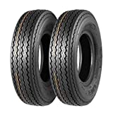 MaxAuto Set of 2 4.80-8 Highway Boat Motorcycle Trailer Tires 4.80x8 6PR Load...