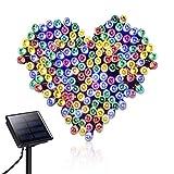 Spardar - Guirnalda solar con 200 luces LED, 8 modos de iluminación, para exteriores, jardines, fiestas, bodas, árboles de Navidad, decoración del hogar [Clase de eficiencia energética A]