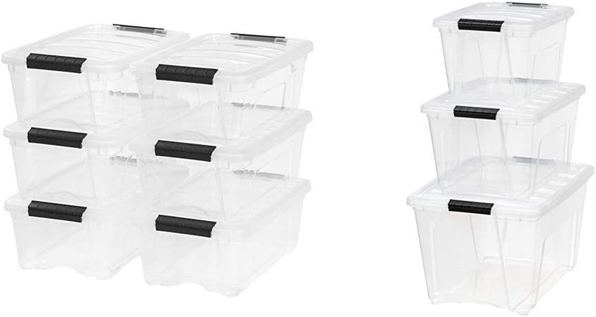 IRIS Easy-to-use USA Inc. TB-42 12 Quart a favorite Pull 6 Stack Box Clear