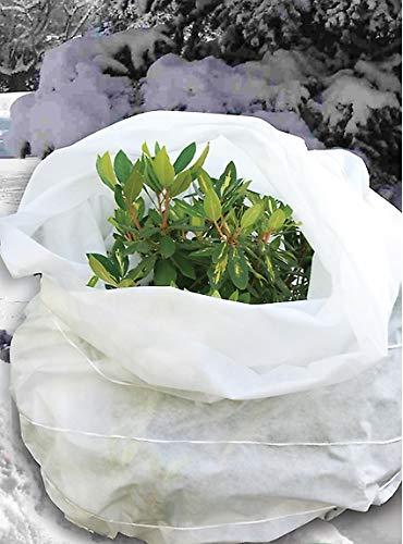 KADAX Winterschutz für Pflanzen, Garten, Balkon, Winterschutzvlies, 0,8 x 10 m, Gartenvlies für Winter, Frostschutz, Kälteschutz, Frostschutzvlies, Wintervlies, Pflanzenschutz