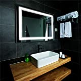 """LED Bathroom Mirror Wall-Mounted Vanity Mirror with Anti Fog,24"""" x 32"""" Dimmable Smart Touch Button Makeup Mirror with Lights Vertical & Horizontal"""