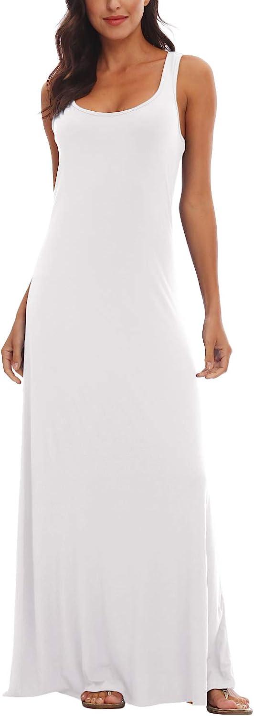Urban CoCo Women's Floral Print Sleeveless Tank Top Maxi Dress